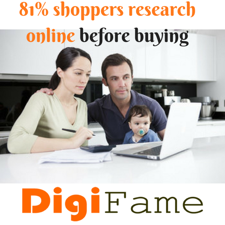 81% shoppers research online before buying