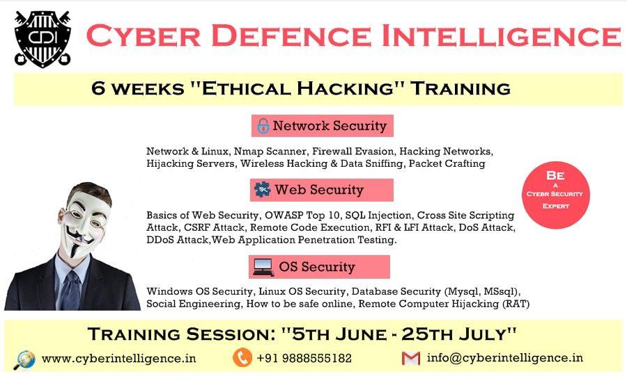 CDI 6 weeks Training Poster